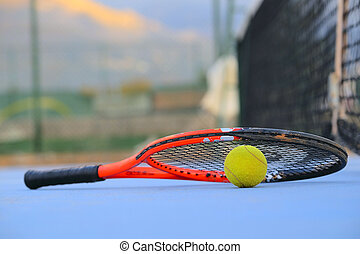 tennis ball and tennis racket - The image of tennis ball and...