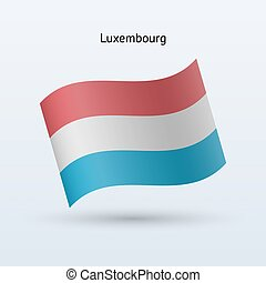 Luxembourg flag waving form Vector illustration - Luxembourg...