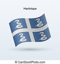 Martinique flag waving form Vector illustration - Martinique...