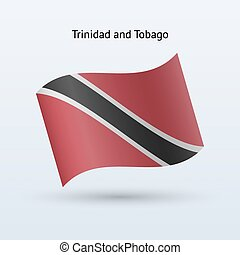 Trinidad and Tobago flag waving form. - Trinidad and Tobago...