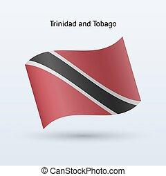 Trinidad and Tobago flag waving form. - Trinidad and Tobago...