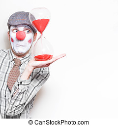Business Countdown Clown Holding Deadline Timer - Funny...