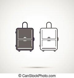 Simple design vector icon travel bag