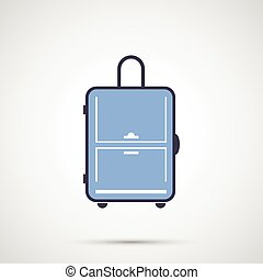 Simple design vector icon travel bag