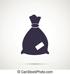 Simple design vector icons moneybags.