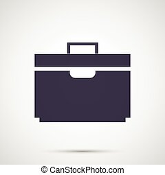 Simple design vector icons suitcase.