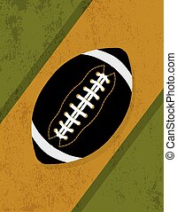 Vintage Retro Grunge American Football Background...