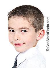 Closeup of Cute little boy - Closeup of of cute little boy...