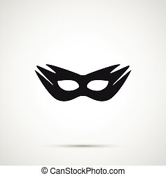 Vector sex mask isolated on white background.