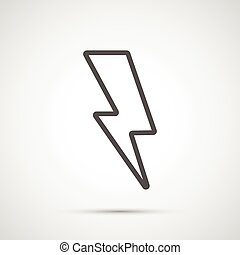 Vector lightning isolated on white background