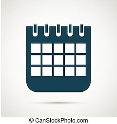 Vector calendar isolated on white background