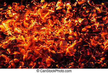 abstract background of burning coals