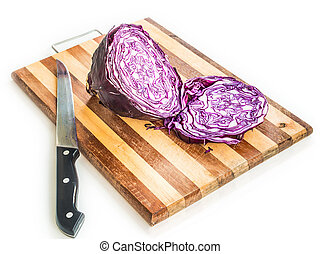 red cabbage - cut red cabbage