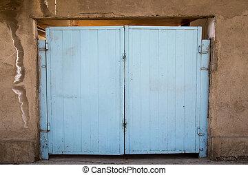 old blue gate