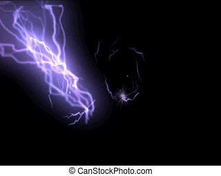 blast of lightening - illustration of blasts of lightening