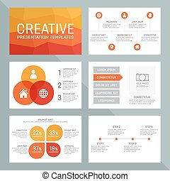 Vector template for multipurpose presentation slides with...
