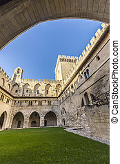 avignon palace - Architecture inside Palais des Papes at...