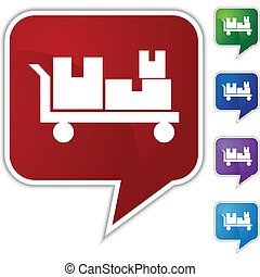Flatbed Cart Icon