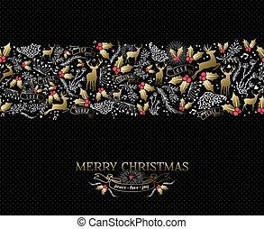 Vintage Christmas card reindeer