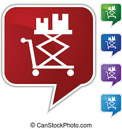 Flatbed Lift Cart Icon