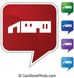 Large Warehouse Icon - Large warehouse icon isolated on a...