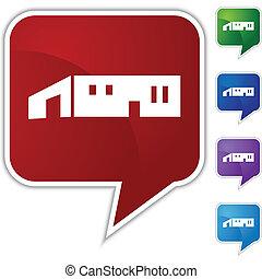 Large Warehouse Icon - Large warehouse icon isolated on a...