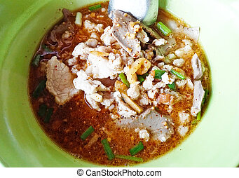 Thai spicy noodle, tom yum soup