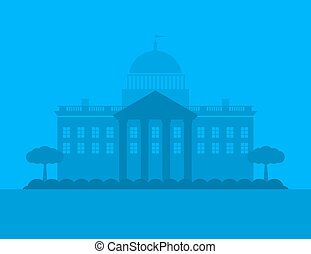 Vector city house silhouette