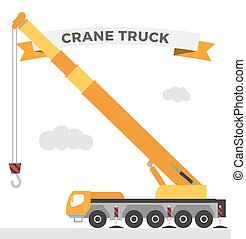 Building under construction crane machine technics vector...