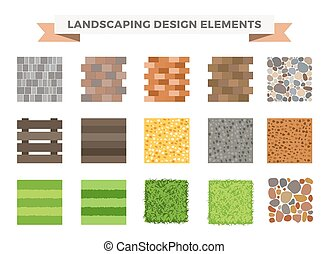 Landscaping garden design elements. Landscaping plants,...