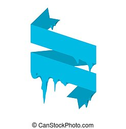 Collection of frozen icicle snow winter vector banner Icicle...