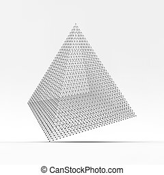 Pyramid Connection structure Vector 3D illustration