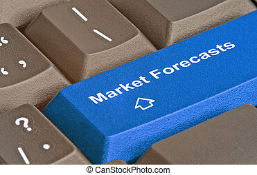 Keyboard with key for market forecast