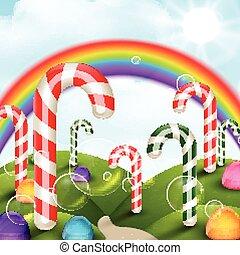 Candy garden background