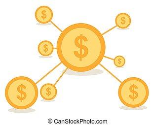 Business network concept vector des