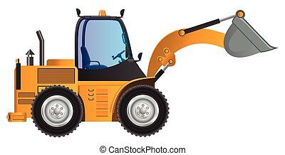 Loader yellow car vector design mod