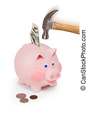 breaking the bank - breaking the piggy bank