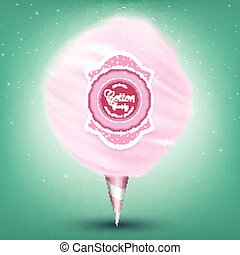 Pink background cotton candy - Illustration of Pink...
