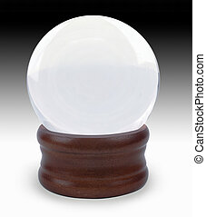 crystal ball - Crystal ball on gradient background