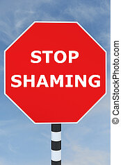 Stop Shaming concept - Render illustration of Stop Shaming...