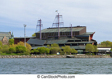 vasa museum - the famous vasa museum in stockholm from the...