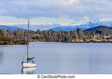 beautiful scenic of lake te anau south island new zealand...