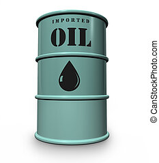 oil drum - steel drum of imported oil