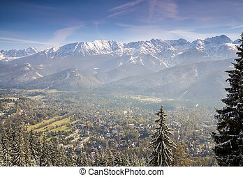 Zakopane winter panorama, Poland - Zakopane winter panorama...
