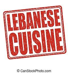 Lebanese cuisine stamp - Lebanese cuisine grunge rubber...