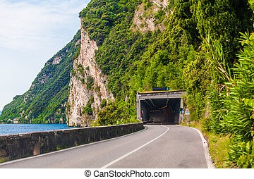 Lake Garda asphalt road