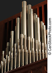 organ pipes - pipe organ pipes