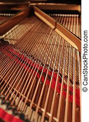 grand piano interior - interior of concert grand piano
