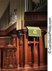 church pulpit - empty church pulpit