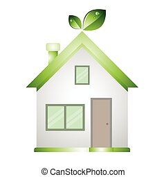 Home green low energy save The word;